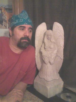 My first limestone angel