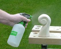 Spraying silicone sealer
